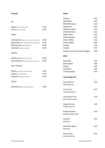 Getränkekarte (PDF) - 0815