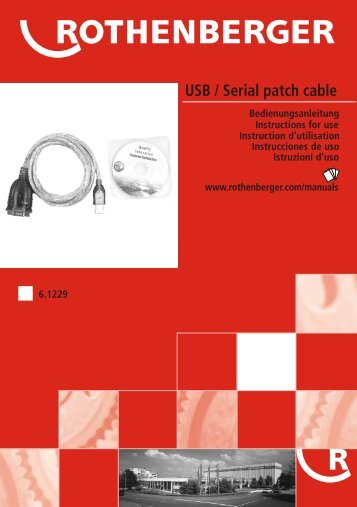 USB / Serial patch cable - Rothenberger