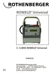 ROWELD Universal - Rothenberger South Africa