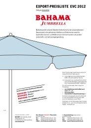 EXPoRT-PREiSLiSTE EVC 2012 - BECHER Textil- & Stahlbau GmbH