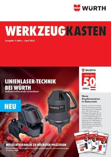 WERKZEUGKASTEN Ausgabe 7: März – April 2012 - Würth