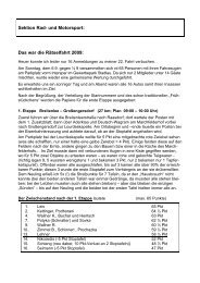 Sektion Rad- und Motorsport: Das war die Rätselfahrt 2009: