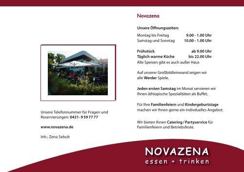 Speisen - Novazena