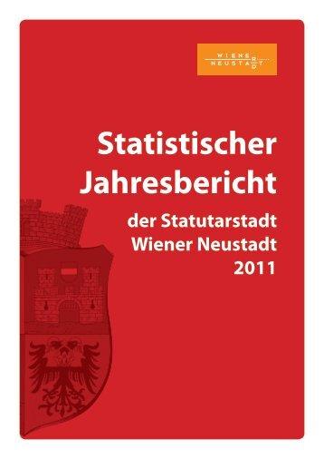 Statistischer Jahresbericht - Stadtgemeinde Wiener Neustadt
