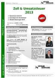 Zoll & Umsatzsteuer 2013 - Kitzler Verlag
