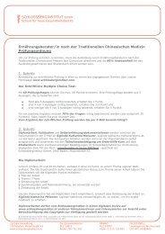 Prüfungsordnung TCM - Schlossberginstitut