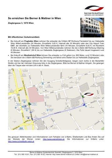 Wegbeschreibung (pdf) - Berner & Mattner