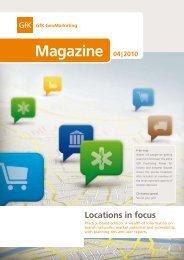 04 | 2010 Magazine Locations in focus - GfK GeoMarketing