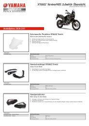 XT660Z Ténére/ABS Zubehör Übersicht - Yamaha Motor Europe