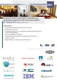 Konferenz Cloud Computing & Virtualisierung ... - LSZ Consulting
