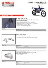 YZ450F Zubehör Übersicht - Yamaha Motor Europe