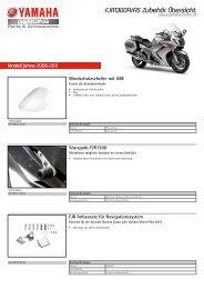 FJR1300A/AS Zubehör Übersicht - Yamaha Motor Europe