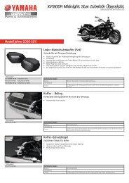 XV1900A Midnight Star Zubehör Übersicht - Yamaha Motor Europe
