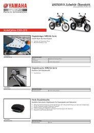 WR250R/X Zubehör Übersicht - Yamaha Motor Europe