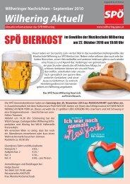 14 www.wilhering.spoe.at SPÖ Aktuelles aus Bund - Land