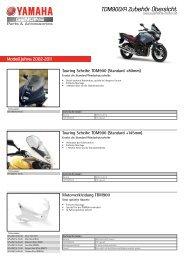 TDM900/A Zubehör Übersicht - Yamaha Motor Europe