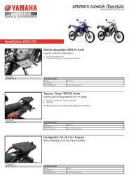 WR125R/X Zubehör Übersicht - Yamaha Motor Europe