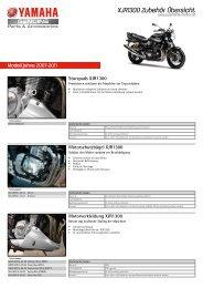 XJR1300 Zubehör Übersicht - Yamaha Motor Europe