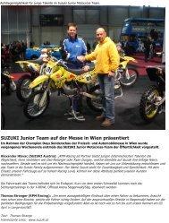 SUZUKI Junior Team auf der Messe in Wien präsentiert - RPM Racing