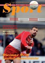 Österreich Sport – Das Magazin der Bundes-Sportorganisation - BSO
