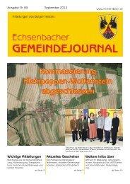 Gemeindejournal Nr. 89 Sept. 2012 (2,55 MB - Marktgemeinde ...