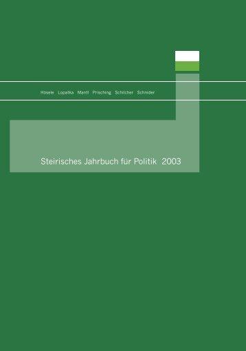 Steirisches Jahrbuch für Politik 2003 - Steirische Volkspartei