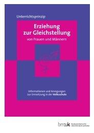Unterrichtsprinzip Erziehung zur Gleichstellung von Frauen und ...