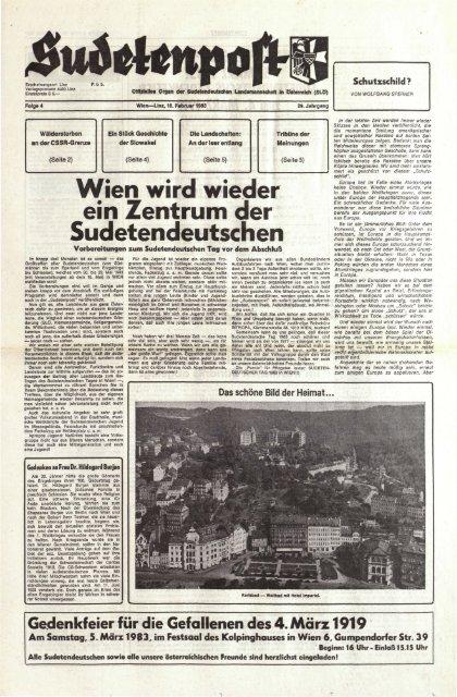 Wien Wird Wieder Ein Zentrum Der Sudetendeutschen Sudetenpost