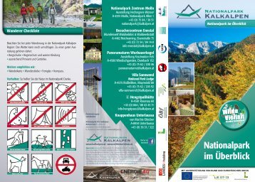 Nationalpark im Überblick - Nationalpark Kalkalpen