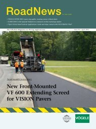 New Front-Mounted VF 600 extending Screed for ... - Wirtgen America