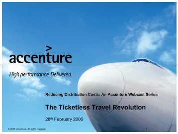 High Performance Business Customer Centric Aviation Value Story