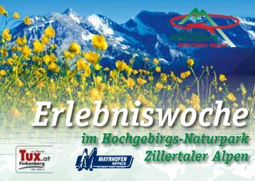 Erlebniswoche im Hochgebirgs-Naturpark Zillertaler Alpen