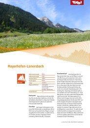 Mayerhofen-Lanersbach - Tirol