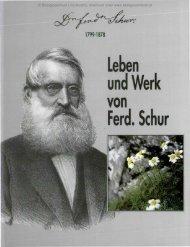 Leben und Werk Ferd. Schur