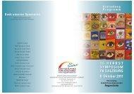 16.HERBST SYMPOSIUM IN SALZBURG 8. Oktober 2011 16 ...