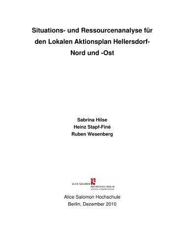 und Ressourcenanalyse für den Lokalen Aktionsplan Hellersdorf