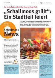 Schallmoos-News - Stadt Salzburg