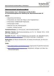 Ideenwerkstatt - Dokumentation des 3. Workshops ... - Stadt Salzburg