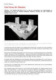 Fünf Türme für München - Von der Heyden Group