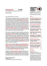 Standpunkte 4/2009 - Münchner Forum