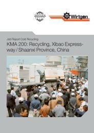 KMA 200: Recycling, Xibao Express- way / Shaanxi ... - Wirtgen GmbH