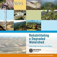 Rehabilitating a Degraded Watershed - World Bank Institute