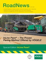 InLine Pave® – The Proven Paving Method Offered by VÖGELE