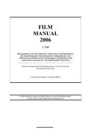 Film Manual 2006, 1. Teil - Film and Music Austria