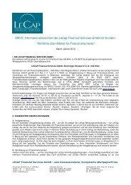 Mifid-RichtlinienKunden 2012web - LECAP FINANCIAL SERVICES