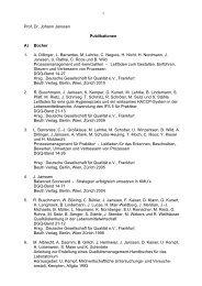 1 Prof. Dr. Johann Janssen Publikationen A ... - Hochschule Fulda