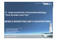 MOBILE MARKETING AM FLUGHAFEN WIEN Ing. Franz Svoboda