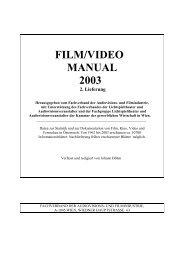 FILM/VIDEO MANUAL 2003 2. Lieferung - Film and Music Austria