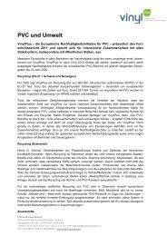 PVC und Umwelt