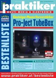 Pro-Ject TubeBox: Einsteiger-Phono-Vorverstärker - ITM praktiker ...